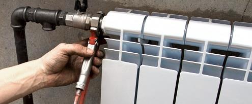 Installatie van verwarming