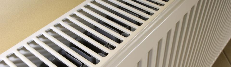 radiator van bovenaf gezien